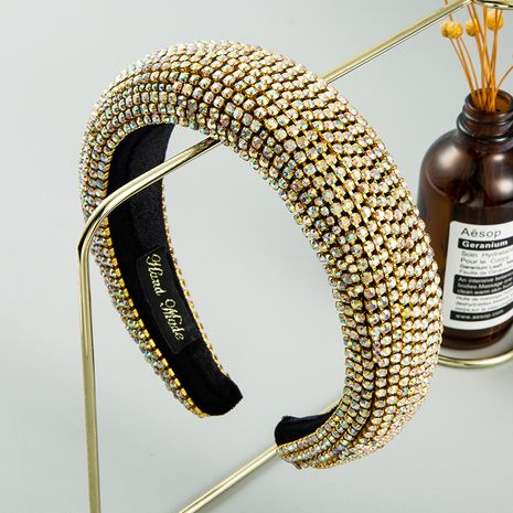fashion new  Inlaid Color Diamond Sponge  Headband Female Luxury Heavy Industry SpongeHair Accessories nihaojewelry wholesale   NHLN235745's discount tags