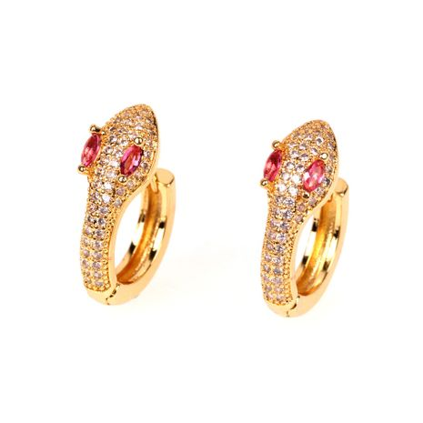 new fashion  apm spiritual snake-shaped earrings micro-inlaid zircon earrings  trend personalized ear jewelry nihaojewelry wholesale   NHPY235748's discount tags