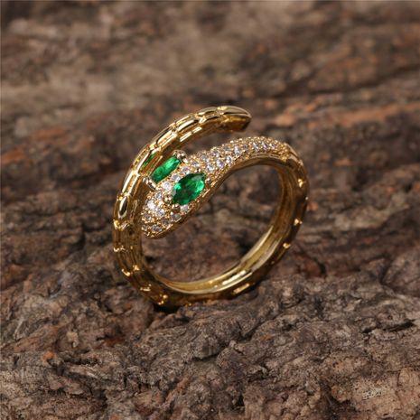 nouvelle mode simple apm serpent anneau personnalité tendance incrusté zircon serpentine anneau d'index ouvert nihaojewelry gros NHPY235749's discount tags