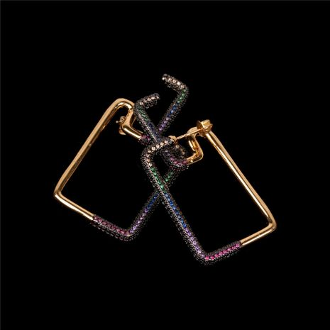 new simple  creative design colorful geometric rectangle fashion exaggerated earrings  nihaojewelry wholesale   NHPY235763's discount tags