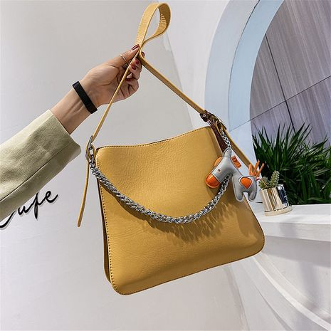 Textured simple  style large-capacity bag women  new trendy Korean  wild one-shoulder messenger fashion bucket big bag wholesale  NHJZ235788's discount tags
