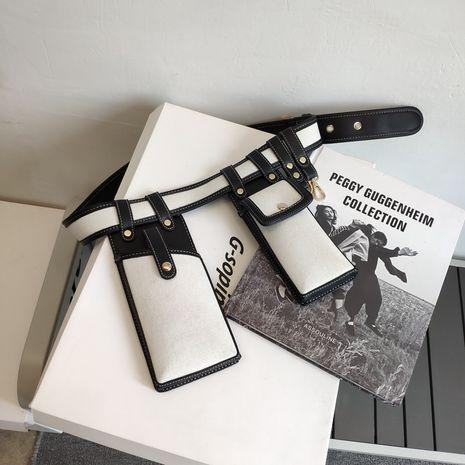 chest bag female bag  new trendy street shooting concave shape belt bag detachable mobile phone bag small waist bag NHJZ235790's discount tags