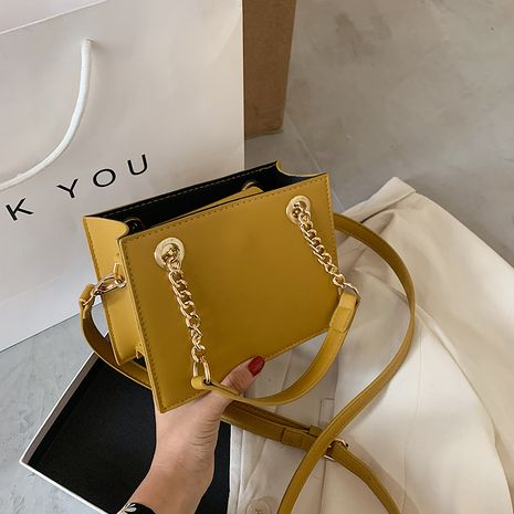 Small bag handbag bag  new trendy shoulder bag wild messenger simple tote small square chain female bag NHJZ235794's discount tags