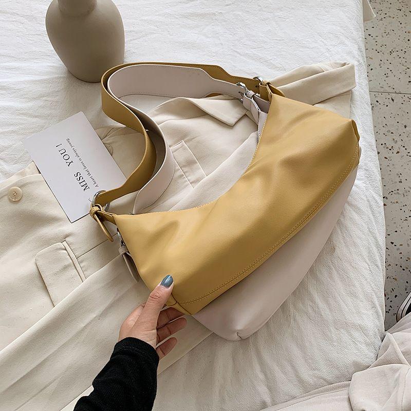 new underarm bag Korean niche design baguette bag  shoulder strap temperament single shoulder messenger handbag NHJZ235812
