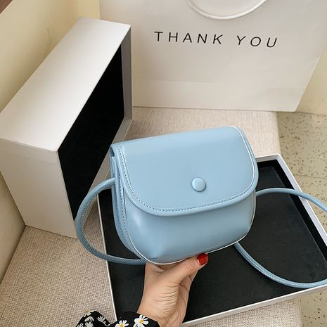 new soft leather fashion  small bag French niche  small fresh one-shoulder messenger bag NHJZ235814's discount tags