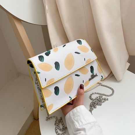fashion new printed small square bag simple Korean shoulder messenger bag chain small bag wholesale NHXC235824's discount tags