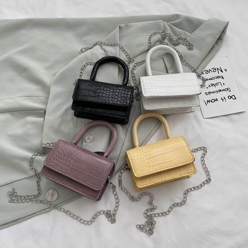 Girly western style bag  new fashion handbag small square bag crocodile pattern single shoulder messenger bag  NHXC235838