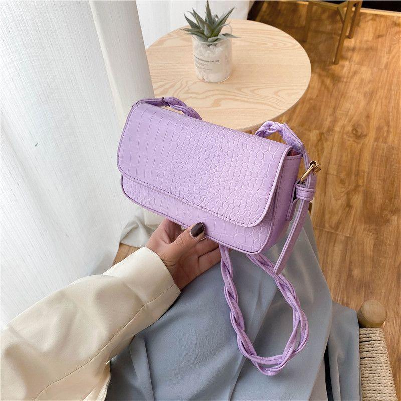 New mini wild Korean women's bag shoulder diagonal bag woven small square bag small fresh art female bag  NHXC235839