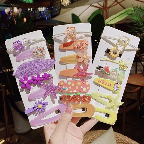 new fashion  cute korean children's hairpin hair rope set nihaojewelry wholesale   NHNA235849's discount tags