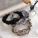 Korean new fashion polka dot pleated skirt retro simple wild mesh hair hoop head buckle hairpin hair accessory  wholesale  NHHI235853