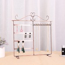 fashion new Wrought iron  display stand household necklace earring storage rack jewelry display stand wholesale  NHAW235864