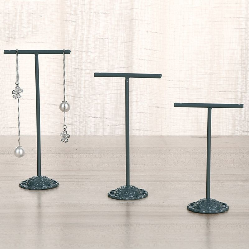 new simple  wrought iron threepiece earrings jewelry display stand jewelry storage rack counter display wholesale  NHAW235870