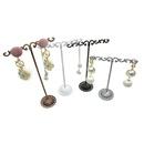 new fashion simple  Iron Art Metal Earring Holder Threepiece Counter Hanging Ear Line Shelf Earring Storage Display Shelf wholesale  NHAW235868