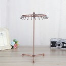 wrought iron jewelry display stand rotating necklace storage rack hanging earrings jewelry stand  wholesale  NHAW235867