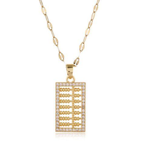 Mode coréenne doux cuivre micro-incrusté de zirconium petit collier abaque en gros nihaojewelry NHSC235973's discount tags