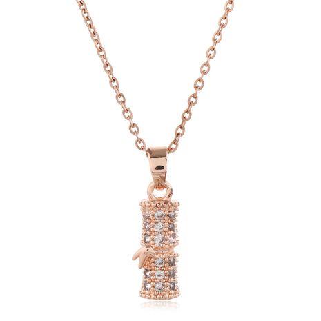Collier en bambou de zirconium incrusté de cuivre doux de mode coréenne en gros nihaojewelry NHSC235972's discount tags