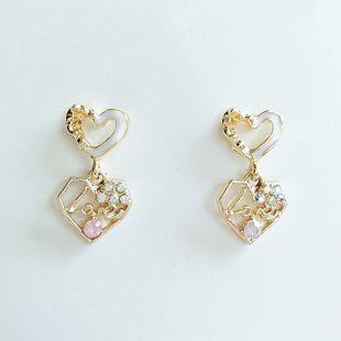 Flores coreanas lindos pendientes de moda simples nuevos pendientes al por mayor nihaojewelry NHVA230772's discount tags