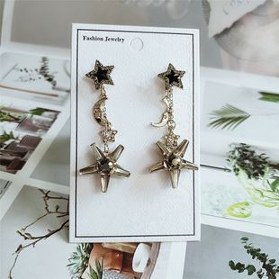 fashion exaggerated super beautiful metal stars moon retro tassel earrings wholesale nihaojewelry NHVA230782's discount tags