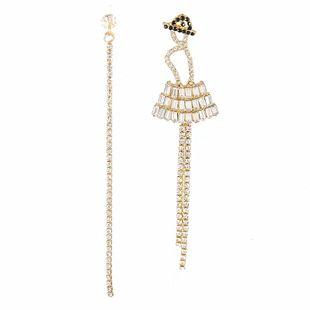 Pendientes de borla asimétricos de aleación nueva moda pendientes de tendencia al por mayor nihaojewelry NHVA230781's discount tags