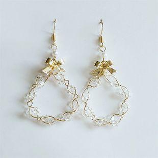 Boucles d'oreilles coréenne simple fleur nouvelle conception en gros nihaojewelry NHVA230786's discount tags