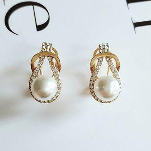 Boucles d'oreilles en perles de mode coréenne simples nouvelles boucles d'oreilles pendantes en gros NHVA230789's discount tags