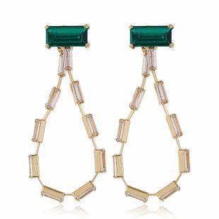 exagéré rétro mode diamant géométrique boucles d'oreilles coréen boucles d'oreilles mode oreille bijoux en gros nihaojewelry NHVA230806's discount tags