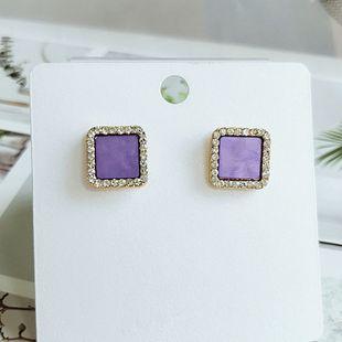mode nouvelles boucles d'oreilles coréennes petites boucles d'oreilles géométriques en gros nihaojewelry NHVA230809's discount tags