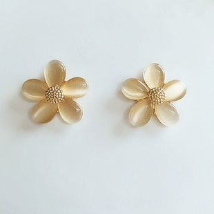fashion flower  femininity Korean new trend small earrings wholesale nihaojewelry NHVA230811's discount tags
