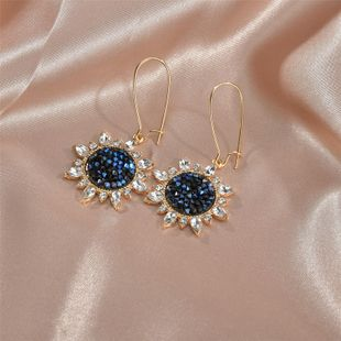 Korean fashion long paragraph earrings sun flower women earrings wholesale nihaojewelry NHBQ230878's discount tags