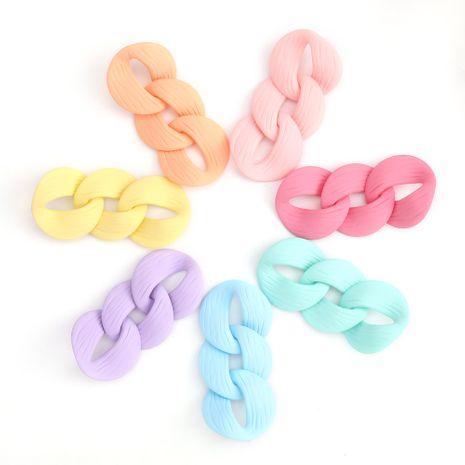 Boucles d'oreilles chaîne acrylique minimaliste de mode simples boucles d'oreilles rétro en gros nihaojewelry NHJE230899's discount tags