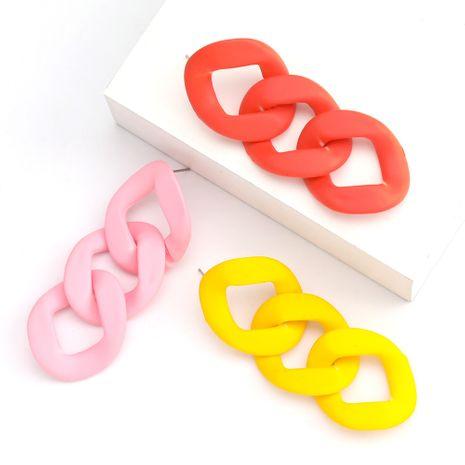Mode minimaliste chaîne acrylique boucles d'oreilles coréennes simples boucles d'oreilles rétro en gros nihaojewelry NHJE230900's discount tags
