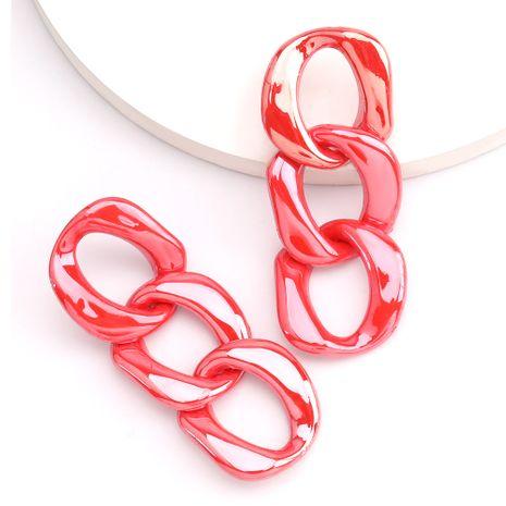 Fashionable minimalist style acrylic drop oil shiny chain Korean earrings wholesale nihaojewelry NHJE230901's discount tags