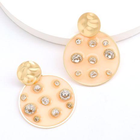 vente chaude mode ronde résine diamant boucles d'oreilles perles en gros nihaojewelry NHJE230902's discount tags