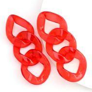Fashion minimalist translucent acetate plate chain earrings simple retro earrings wholesale nihaojewelry NHJE230903
