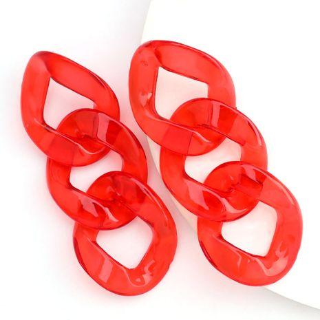 Mode minimaliste translucide plaque d'acétate boucles d'oreilles chaîne simples boucles d'oreilles rétro en gros nihaojewelry NHJE230903's discount tags