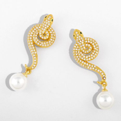 new pearl earrings exaggerated serpentine earrings jewelry wholesale nihaojewelry NHAS230905's discount tags