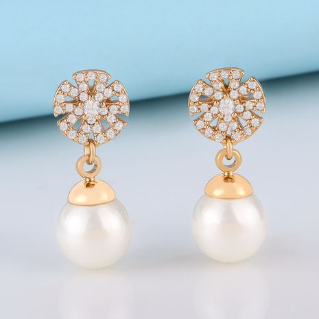 nouveaux produits Corée du Sud nouvelles boucles d'oreilles gland perle boucles d'oreilles senior sens gros nihaojewelry NHAS230906's discount tags