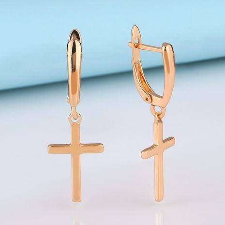 Pendientes colgantes geométricos simples de oreja cruzada joyería de oreja hebilla de oreja hipoalergénica al por mayor nihaojewelry NHAS230908's discount tags