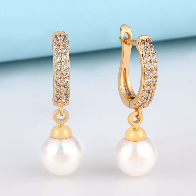 High-grade diamond earrings jewelry fashion retro wild earrings wholesale nihaojewelry NHAS230910