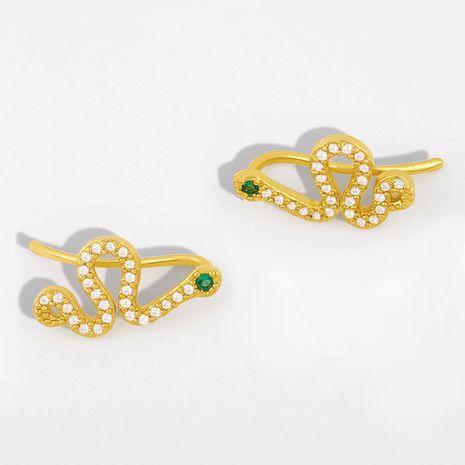 nouvelles boucles d'oreilles zircon boucles d'oreilles serpentine diamant boucles d'oreilles en gros nihaojewelry NHAS230912's discount tags