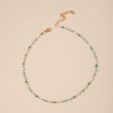 Bijoux populaires simple sauvage Corée du Sud vert sucre perlé cube perle collier en gros nihaojewelry NHGY230919's discount tags