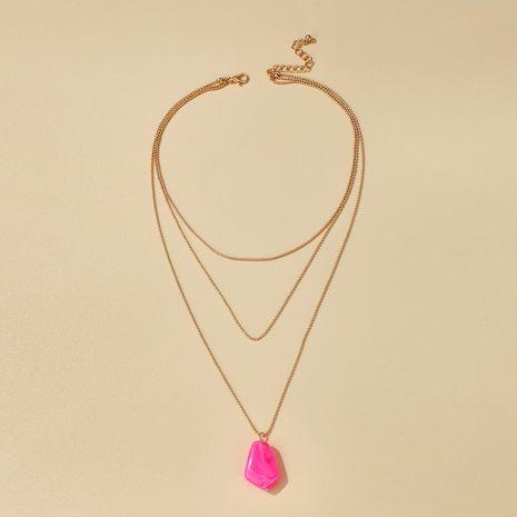 nouveaux accessoires mode simple imitation pierre naturelle cristal pendentif multicouche collier en gros nihaojewelry NHGY230929's discount tags