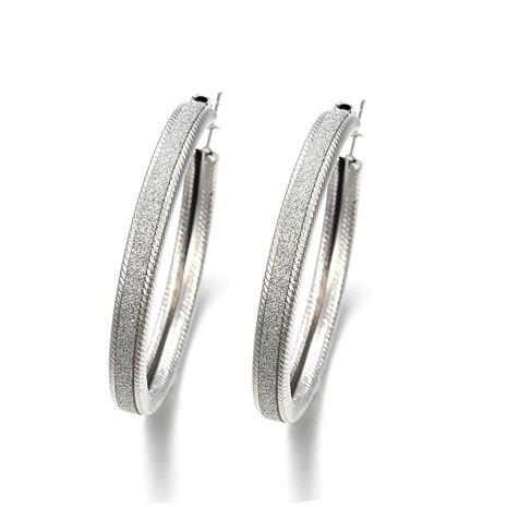 tendance de la mode nouveau alliage exagéré boucles d'oreilles cercle givré mode rock boucles d'oreilles rondes en gros nihaojewelry NHPF230931's discount tags