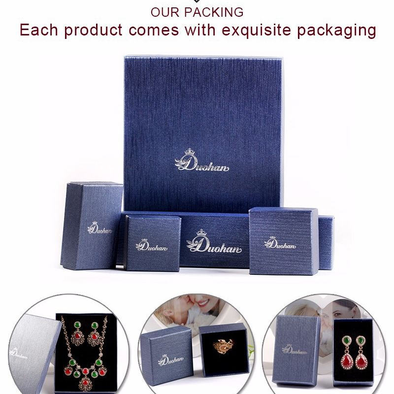 Ring box heaven and earth cover gift box earrings jewelry packaging box parcel carton wholesale nihaojewelry NHKQ230939
