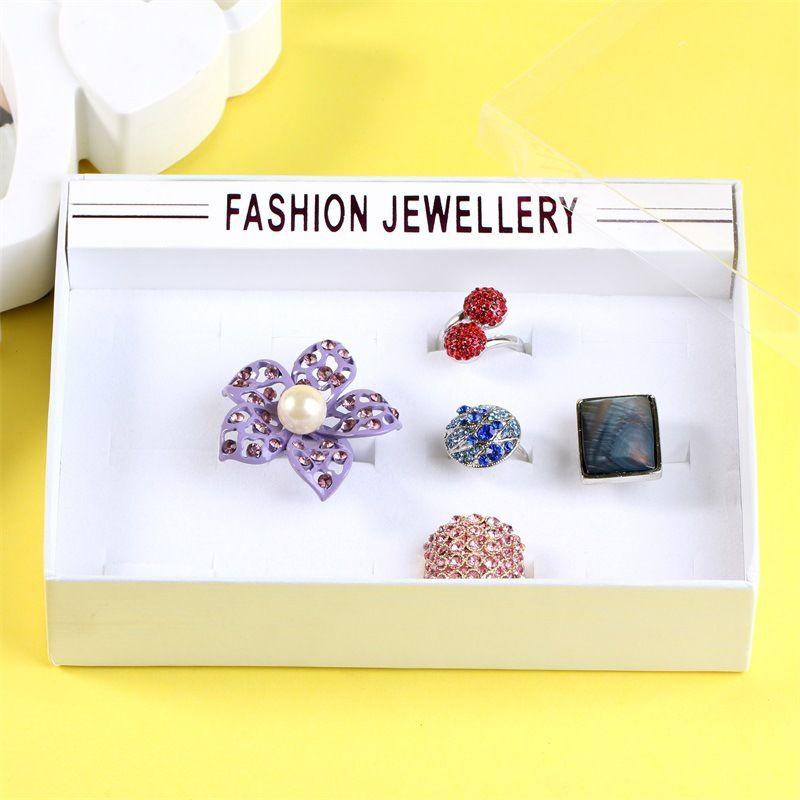 12-hole ring display box transparent box cover box wholesale nihaojewelry jewelry box NHKQ230940