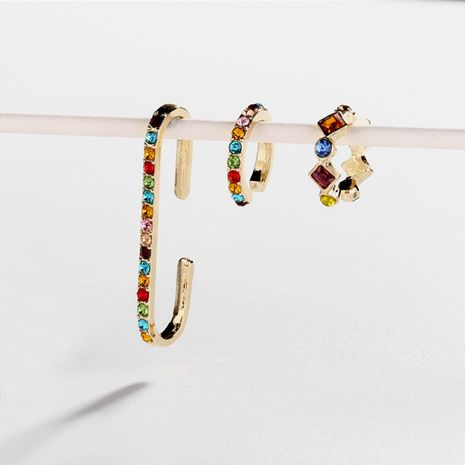 créative mode couleur boucles d'oreilles alliage diamant boucles d'oreilles ensemble en gros nihaojewelry NHLL230959's discount tags