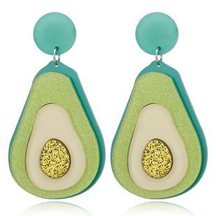 mode nouveau acrylique avocat fruits vert boucles d'oreilles mignon boucles d'oreilles douces en gros nihaojewelry NHXI230967's discount tags