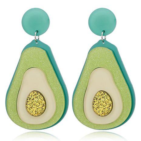 Moda nueva acrílico aguacate verde pendientes lindos dulces pendientes al por mayor nihaojewelry NHXI230967's discount tags