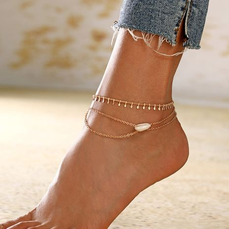 fashion simple beach sand beach shell anklet combination suit women's new style  wholesale nihaojewelry NHXI230989's discount tags