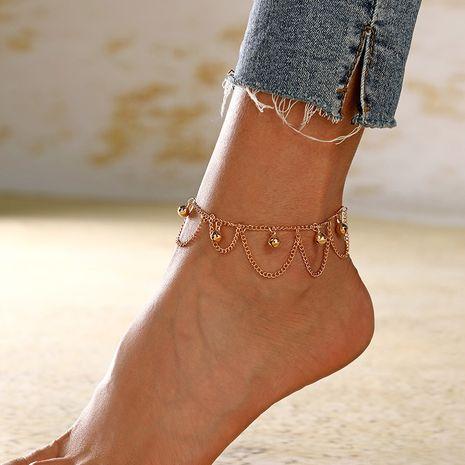 bijoux de mode style rétro multicouche chaîne de gland petite cloche cheville pour femme en gros nihaojewelry NHXI230994's discount tags